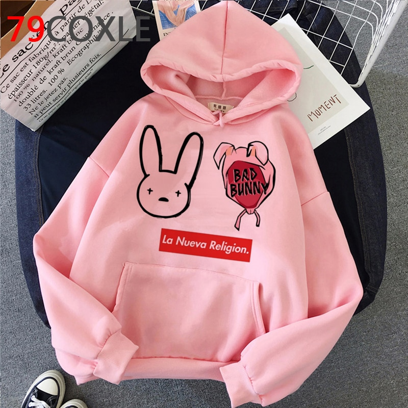 bad bunny style streetwear loose hoodie for fashion bbm0108 3083 - Bad Bunny Store