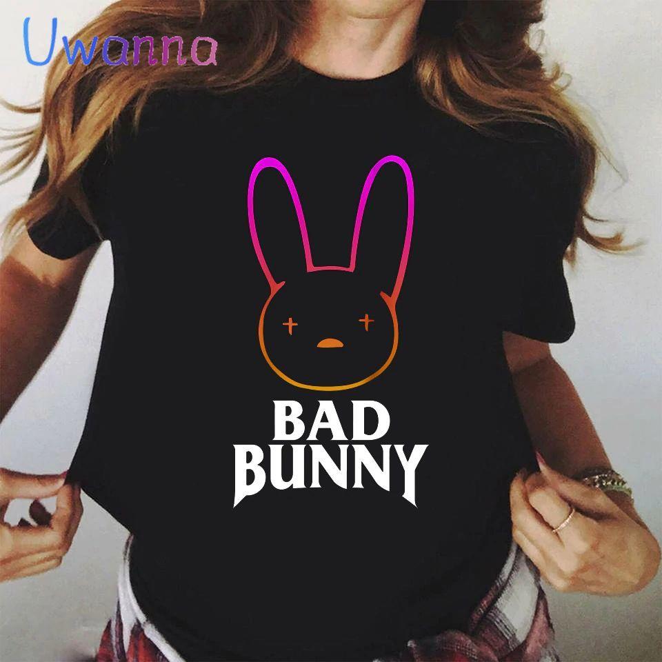rabit logo t shirt women bbm0108 2249 - Bad Bunny Store